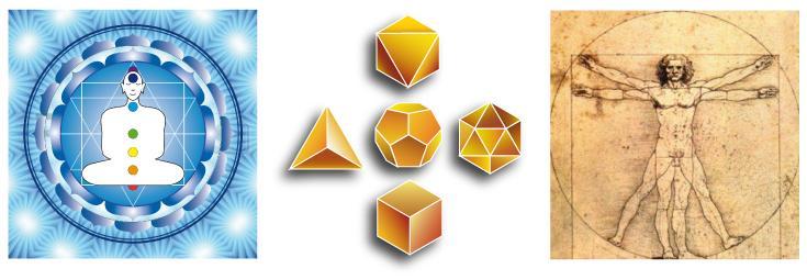 géométrie sacrée du corps humain