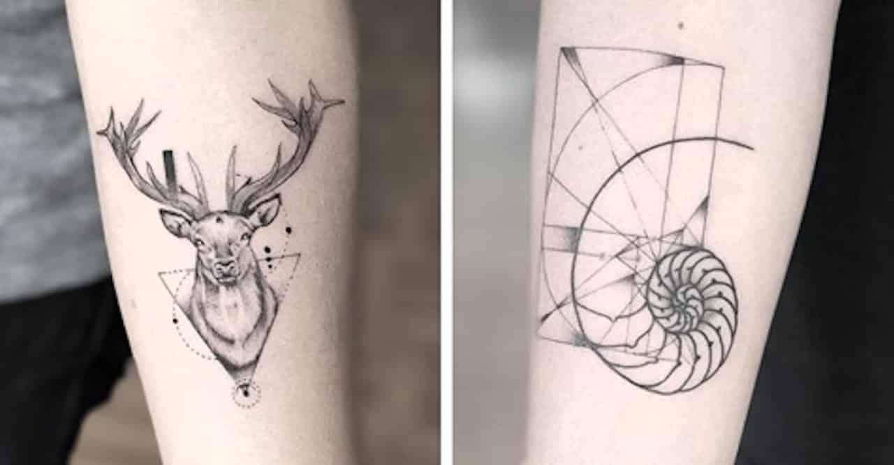 géométrie sacrée tatouage
